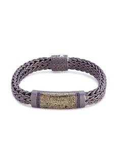 John Hardy Sapphire apache gold woven chain bracelet