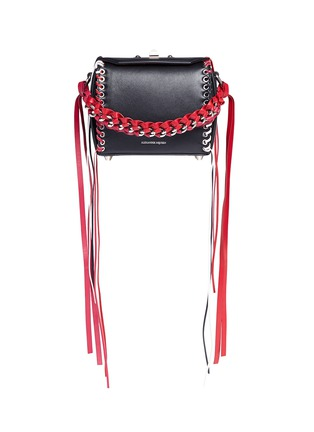 Main View - Click To Enlarge - Alexander McQueen - 'Box Bag 16' in fringe whipstitch calfskin leather