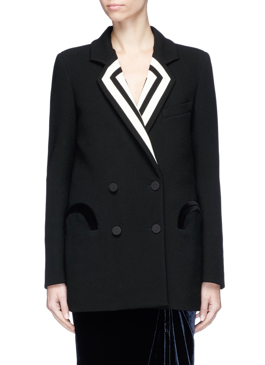 Blazé Milano 'Resolute' stripe lapel wool blazer
