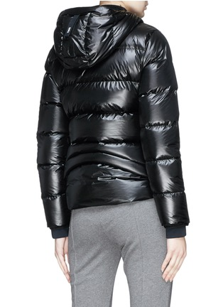 Back View - Click To Enlarge - Templa - Hooded down puffer jacket