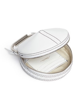 - 3.1 Phillip Lim - 'Alix' paperclip handle leather circle clutch