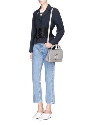 Front View - Click To Enlarge - 3.1 Phillip Lim - 'Alix' paperclip flap mini leather satchel