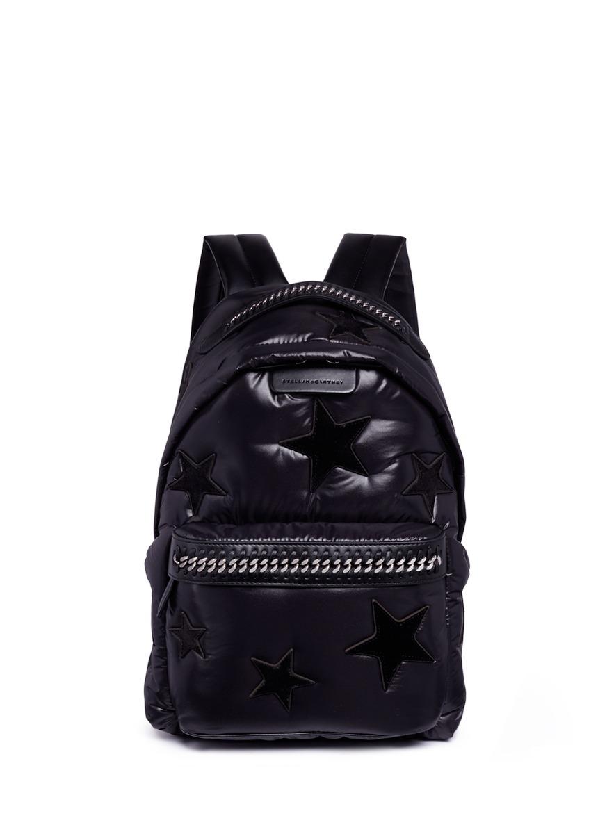 Falabella Go Stars Nylon Backpack - Black