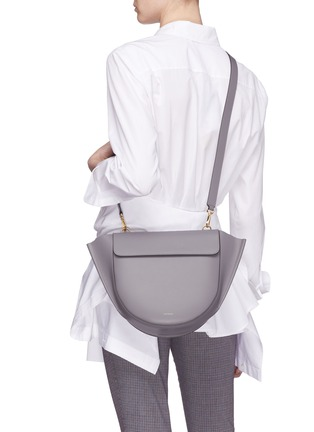 Front View - Click To Enlarge - Wandler - 'Hortensia' medium leather shoulder bag