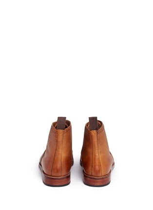 Back View - Click To Enlarge - GRENSON - 'Sharp' leather brogue boots