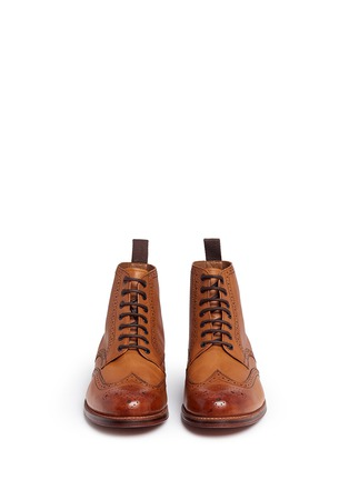 Front View - Click To Enlarge - GRENSON - 'Sharp' leather brogue boots