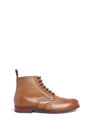 Main View - Click To Enlarge - GRENSON - 'Sharp' leather brogue boots