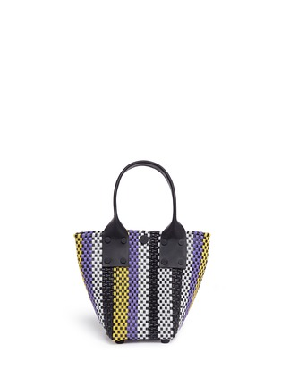 Main View - Click To Enlarge - Truss - Mini stripe woven PVC bag