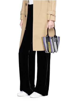 Figure View - Click To Enlarge - Truss - Mini stripe woven PVC bag