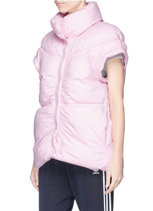 Detail View - Click To Enlarge - PHVLO - Detachable sleeve rainproof puffer jacket