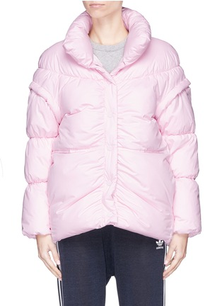 Main View - Click To Enlarge - PHVLO - Detachable sleeve rainproof puffer jacket