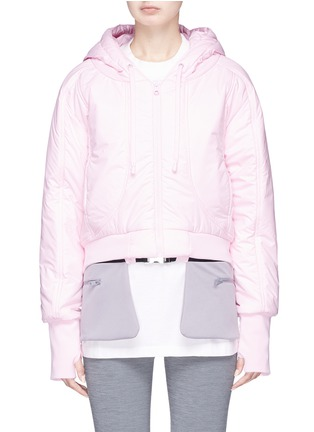 Main View - Click To Enlarge - PHVLO - Detachable hem cropped puffer jacket