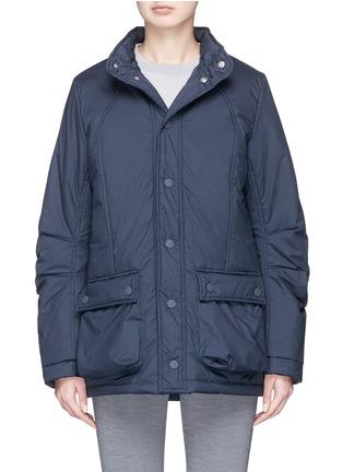 Main View - Click To Enlarge - PHVLO - Retractable hood rainproof puffer jacket