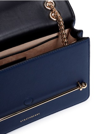 Detail View - Click To Enlarge - Strathberry - 'East/West' colourblock leather crossbody bag