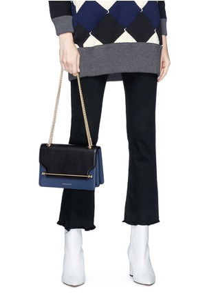 Front View - Click To Enlarge - Strathberry - 'East/West' colourblock leather crossbody bag