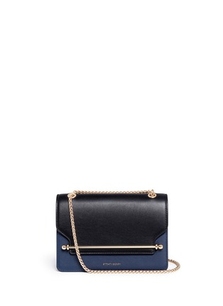 Main View - Click To Enlarge - Strathberry - 'East/West' colourblock leather crossbody bag