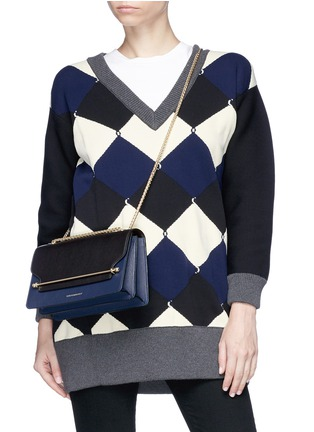 Figure View - Click To Enlarge - Strathberry - 'East/West' colourblock leather crossbody bag