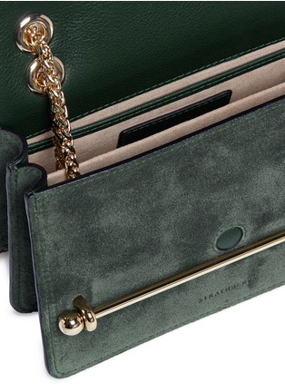 Detail View - Click To Enlarge - STRATHBERRY - 'East/West' mini leather flap suede crossbody bag