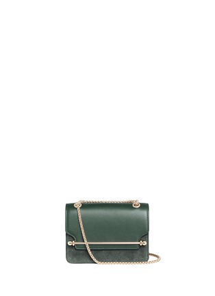 Main View - Click To Enlarge - STRATHBERRY - 'East/West' mini leather flap suede crossbody bag