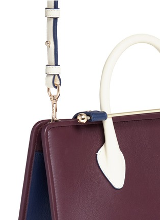 Detail View - Click To Enlarge - STRATHBERRY - 'The Strathberry Midi' colourblock leather tote