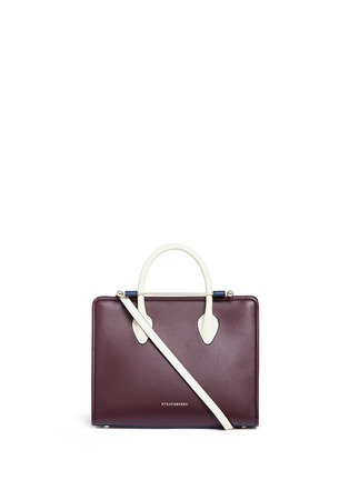Main View - Click To Enlarge - STRATHBERRY - 'The Strathberry Midi' colourblock leather tote