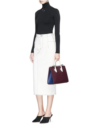 Figure View - Click To Enlarge - STRATHBERRY - 'The Strathberry Midi' colourblock leather tote