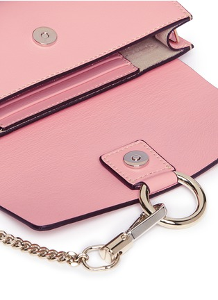 Detail View - Click To Enlarge - Chloé - 'Faye' suede flap leather crossbody wallet
