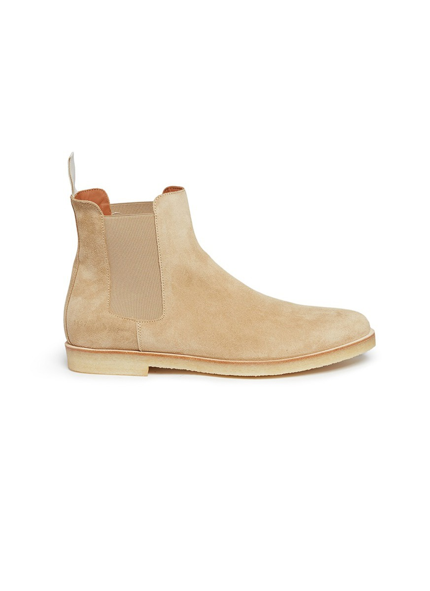 Suede Chelsea boots by Common Projects