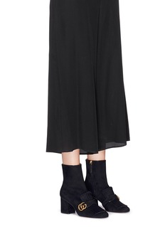 Gucci Kiltie fringe suede boots