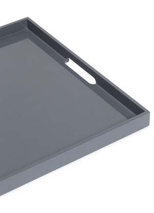 Detail View - Click To Enlarge - LANE CRAWFORD - Lacquer large tray – Charcoal