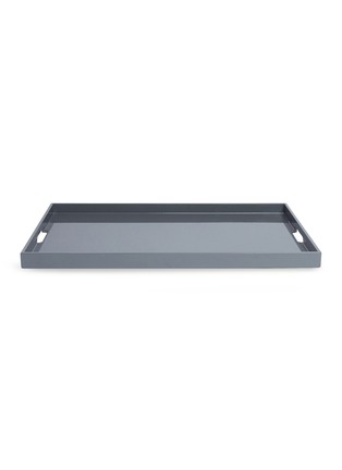 Main View - Click To Enlarge - LANE CRAWFORD - Lacquer large tray – Charcoal