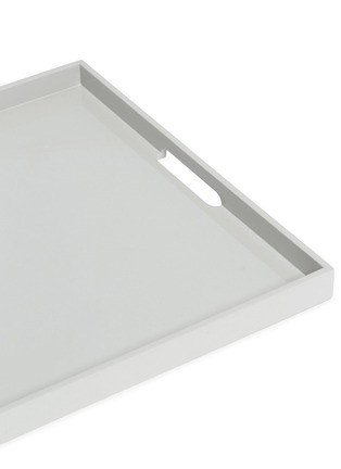 Detail View - Click To Enlarge - Lane Crawford - Lacquer large tray – Light Grey