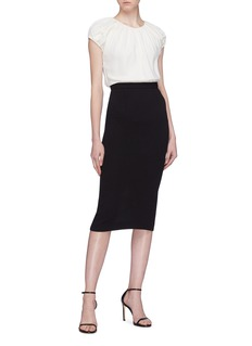 Roland Mouret 'Arreton' zip back wool pencil skirt