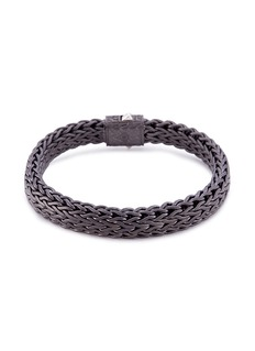 John Hardy Rhodium silver woven chain bracelet