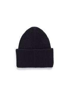 Acne Studios 'PANSY L FACE' EMOTICON PATCH WOOL BLEND BEANIE