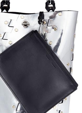 - PROENZA SCHOULER - 'Hex' stud medium interlocked metallic leather panel bucket bag