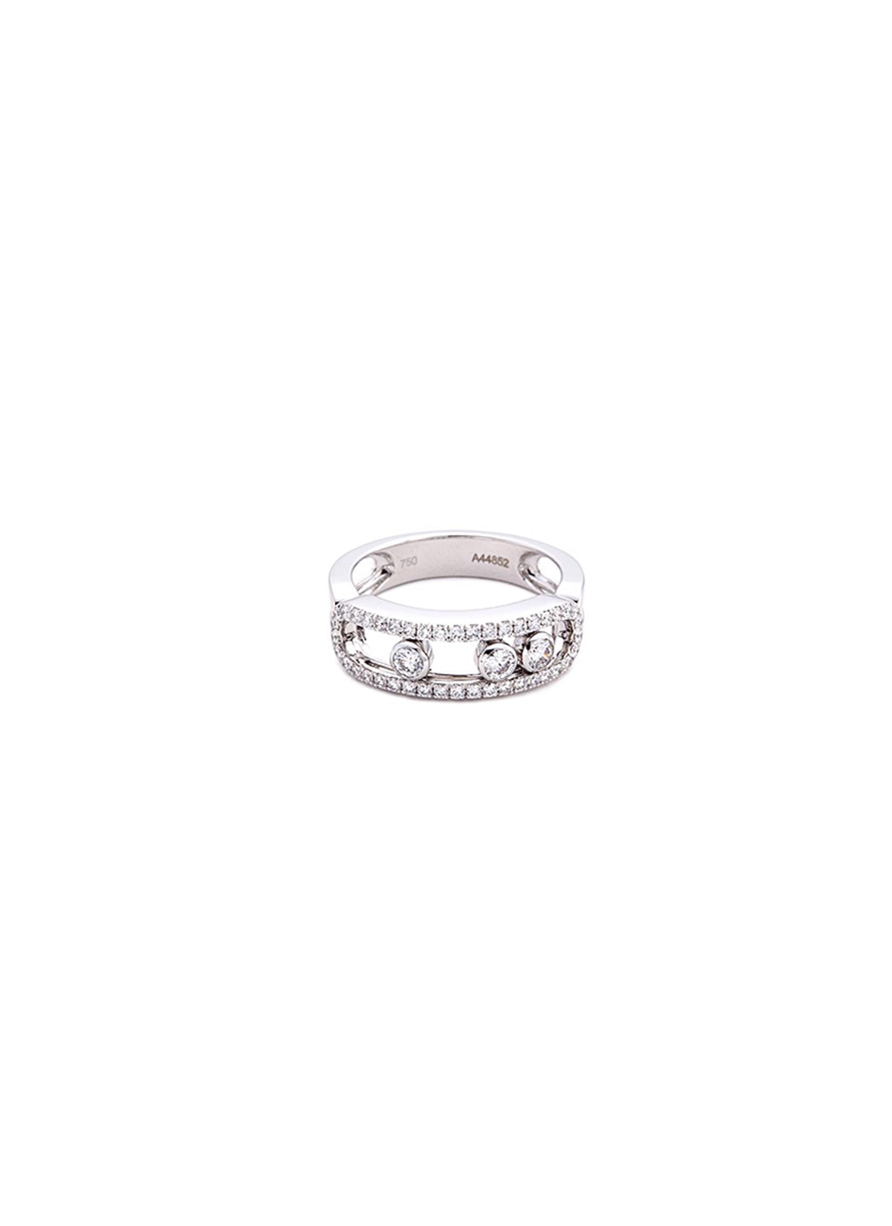 Messika 'Move Classic Pavé' diamond 18k white gold ring