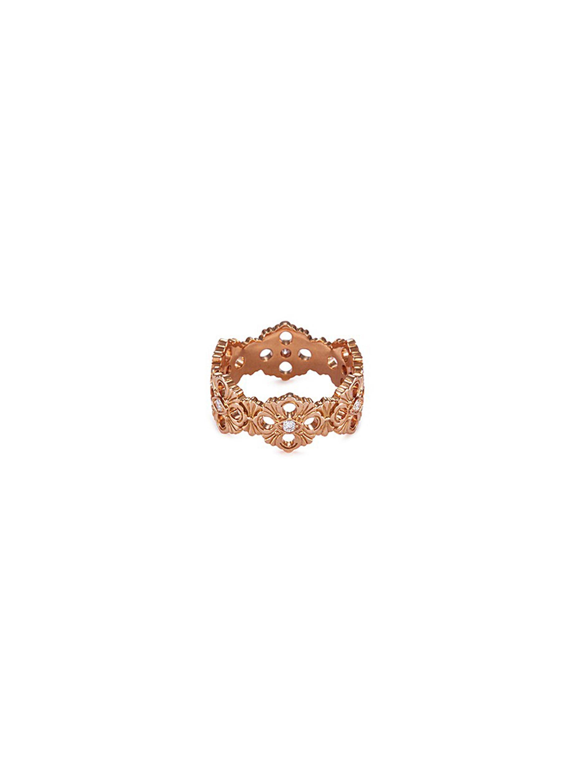 'Opera' diamond 18k rose gold ring