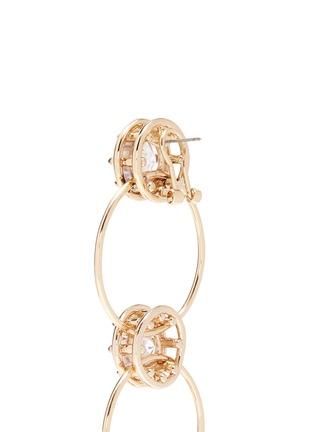 Detail View - Click To Enlarge - EDDIE BORGO - Cubic zirconia tiered hoop earrings