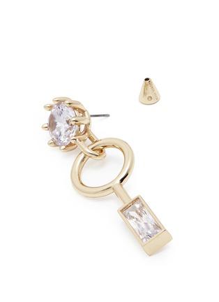 Detail View - Click To Enlarge - Eddie Borgo - Cubic zirconia geometric drop earrings