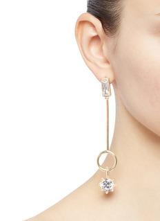 Eddie Borgo Cubic zirconia ring bar drop earrings