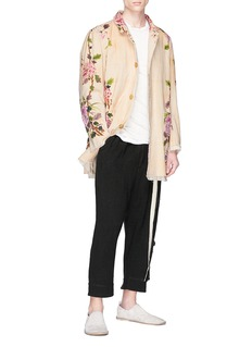 By Walid 'Malcolm' graphic print canvas coat