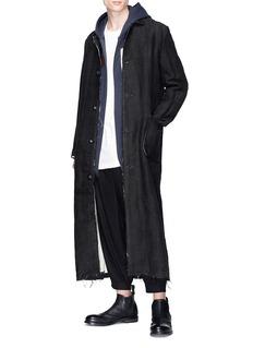 By Walid 'Cut & Sew' patchwork zip hoodie