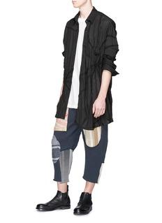 By Walid 'Issa' stitch trim organic cotton shirt