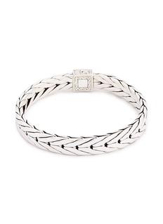 John Hardy Diamond silver weave effect link bracelet