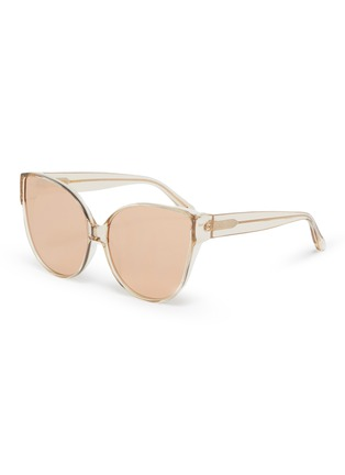 Main View - Click To Enlarge - LINDA FARROW VINTAGE - Extra large acetate frame cateye sunglasses