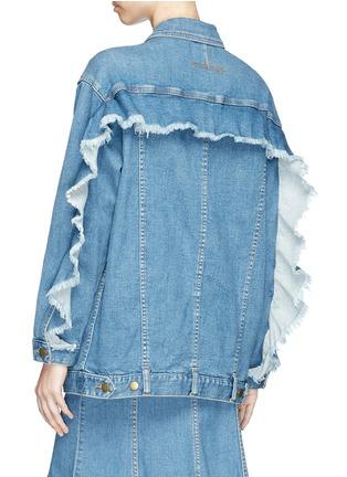 Back View - Click To Enlarge - Nicholas - Ruffle sleeve oversized denim jacket