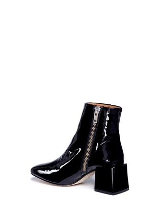 Detail View - Click To Enlarge - LOQ - 'Lazaro' block heel patent leather ankle boots