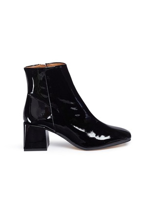 Main View - Click To Enlarge - LOQ - 'Lazaro' block heel patent leather ankle boots