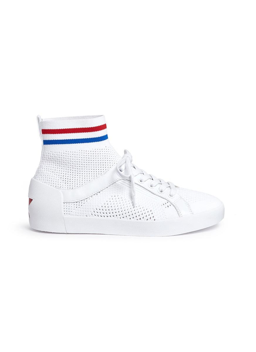 Ninja High Top Sock Sneaker in White